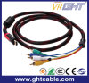 1.5m 720p/1080P/2160p 5RCA к мужчине HDMI к мыжскому кабелю AV
