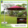 Parasoles de patio al aire libre de pie de lujo con luz LED