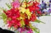 Домашняя оформление шелк красочные цветы искусственные цветы Орхидея