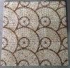 Azulejo de mosaico, Mosaico de pedra em mármore redondo
