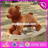 Animal oscilante W16D073 del nuevo del diseño bebé de madera lindo del oso