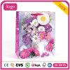 분홍색 꽃 패턴 형식 예술 입히는 선물 종이 봉지