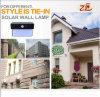 2018 candeeiro de parede exterior Solar ABS para Villa Casa de Luz Solar