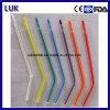 Extrémité dentaire colorée remplaçable de seringue de l'eau d'air (tube clair, noyau coloré)