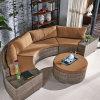 Sofá ao ar livre do Rattan de Brown da fábrica de Foshan na venda
