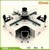 Bureau Workstation pour la Quatre-personne ; Poste de travail en bois de panneau (OM-CB-01-20mm)