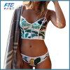 Шея сексуальной флористической застежки -молнии ушивальника Biquini высокая плюс Swimwear размера