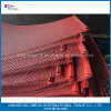 赤いカラーエクスポートのためのひだを付けられたスクリーンの金網