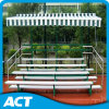 Sale를 위한 Retractable Canopy를 가진 4 줄 Flat Back Aluminum Bench