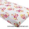 Hoja de pesebre hecha punto diseño de la impresión del algodón de la flor para el bebé/los cabritos