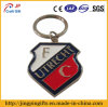 Enamel morbido Metal Shield Key Chain con Key Ring Holder