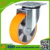 Schwenker-dreht mittlere Aufgabe PU auf Aluminiumkern Fußrolle