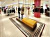Желтый цвет Linestone двойная загрузка керамические полированной плитки