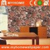 papel de empapelar de madera 3D para la decoración casera