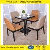 Moderner neuester Art-Kaffee-fester Metallstuhl und -tisch