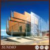 Bekleding Van uitstekende kwaliteit van de Muur van het Zandsteen van het Ontwerp van het hotel de Moderne Ceramische Buiten