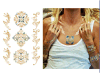 Tattoo искусствоа стикеров Tattoo женщин/людей типа способа смешанный