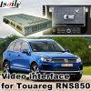Поверхность стыка автомобиля видео- для системы Фольксваген Touareg 8 Inchs Rns850, Android задего навигации и панорамы 360 опционной