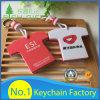 Keychain di plastica poco costoso di alta qualità su ordinazione per attività commerciale