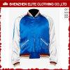 Bomber Jacket para homens jaqueta acetinado branco azul (ELTBJI-66)