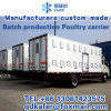 L'usine produit le camion fait sur commande de plantes de poulet 8-9.6 mètres, corps de camion de poussin de bébé
