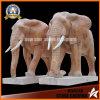 Steinskulptur-Tiermarmorelefant-Skulptur für Dekoration