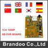 доска H. 264 DVR 1CH 1080P используемая для системы посещаемости