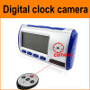 Movimiento Detection Clock Camera DVR con Remote Control, Video: 640*480 30frame/S, Pictures: 1280X960CIF, Support 1-32GB TF Card, 4GB