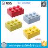 Contenitore di ceramica di fondi Lego della decorazione variopinta