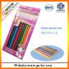 7  lápices de madera en una caja de papel, lápiz coloreado promocional del color 12PCS fijado (HY-C001)
