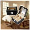 Caixa de relógio de couro Handmade Eco-Friendly do vintage do ouro dos fabricantes do plutônio