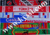 Países de la bandera nacional Bufanda Bufanda Bufanda Bufanda Bufanda de deportes de equipo