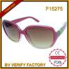 F15275 Marcação FDA PC grossista óculos de sol de moda da Estrutura