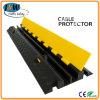 Elektro Vloer 2 van de Draad Zwarte Geel van de Helling van de Beschermer van de Kabel van het Kanaal Rubber