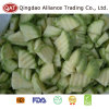 Zucchini verde de um quarto congelado IQF