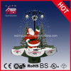 PVC LED Decoration del Babbo Natale Waving Christmas con Snow
