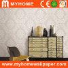 Wall Decoration를 위한 금 Glitter Wall Paper