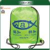 Sac réutilisable de sac à dos de cordon de voyage de promotion de polyester d'OEM