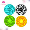 Design de flores coloridas Round 2mm Thickness Coffee Cup Silicone Mat Pad