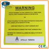 Напечатанный предупредительный знак Board Aluminium с Adherent Sponge
