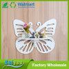 Estante hueco blanco del estante del jardín de la pared de partición de la mariposa