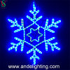 Van het 2D LEIDENE van de Vakantie van Kerstmis de Lichten Motief van de Sneeuwvlok