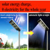 Le tout dans une rue lumière solaire avec capteur infrarouge