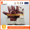 Перчатки Dcn600 безопасности перчаток нитрила Brown хлопка
