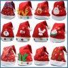 Chapéu do Natal do luxuoso para adultos e chapéu de Papai Noel do Natal dos miúdos