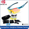 Hot Popular Red PC Frame Anti Scratch impermeável Racing Sports Glasses with Protective Case