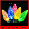 свет IP65 украшения праздника полного цвета 50PCS делает света водостотьким шнура рождества СИД клубники C9/C7