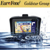 GPS van de motorfiets Navigatie met Bluetooth aV-in de Nieuwste Kaart van de Verbetering van de Kaart Vrije