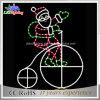Санта и его света мотива веревочки рождества Bike СИД