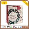 Bolsa de papel floral de Leat del aro de la Navidad